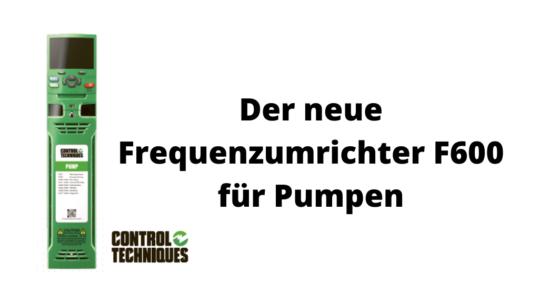 Control Techniques Frequenzumrichter F600 für Pumpen